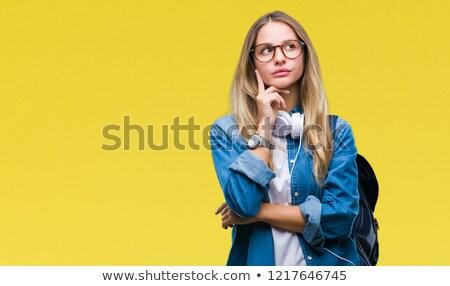 Pensive young blonde Stock photo © acidgrey