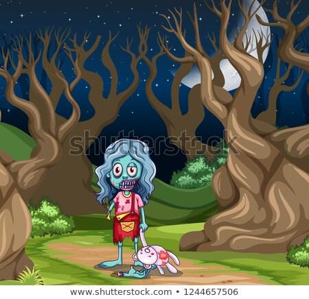 молодые зомби девушки темно древесины иллюстрация Сток-фото © bluering