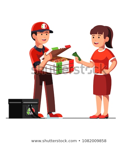 customers hand giving money for to delivery man stock photo © kzenon