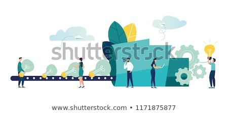Novo idéia engenharia equipe de negócios engrenagens grande Foto stock © RAStudio