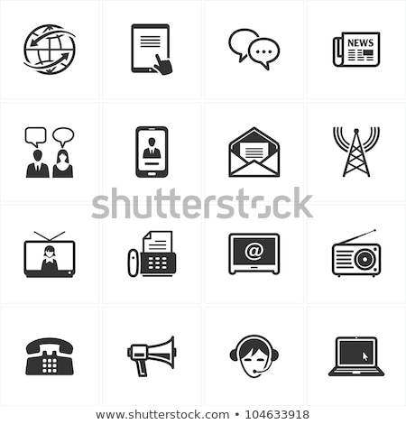 Office Correspondence and Laptop Icons Set Vector Stock photo © robuart