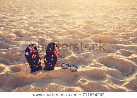avustralya · bayrak · plaj · tatil · kutlama - stok fotoğraf © lovleah
