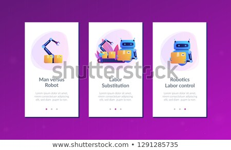 Geburtswehen Ersatz App Schnittstelle Vorlage Roboter Stock foto © RAStudio
