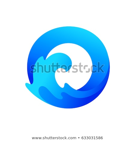 o letter logo vector symbol water wave and sun stock photo © blaskorizov