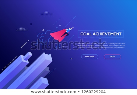 Gól vívmány színes terv stílus illusztráció Stock fotó © Decorwithme