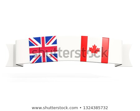 Banner with two square flags of United Kingdom and canada Stock photo © MikhailMishchenko