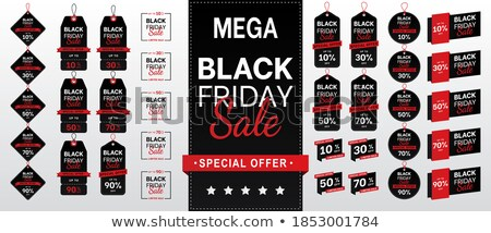 Black friday 30 procent web ingesteld Stockfoto © robuart