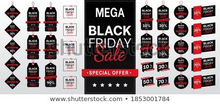 Black friday 30 por cento teia conjunto Foto stock © robuart