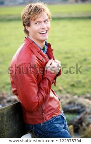 Blond vent grijs Stockfoto © feedough