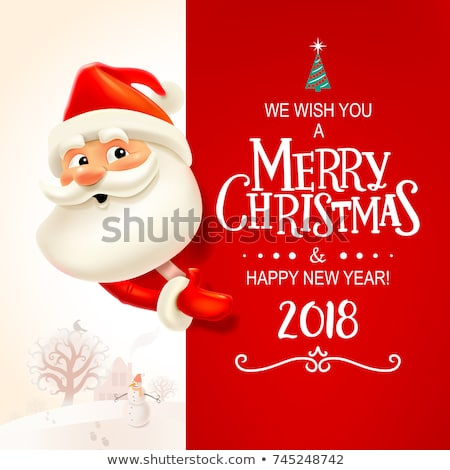 Merry Christmas Greeting Cards with Santa Claus Stock photo © robuart