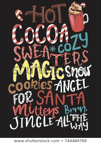 少女 · クッキー · サンタクロース · かわいい · 若い女の子 · 帽子 - ストックフォト © robuart