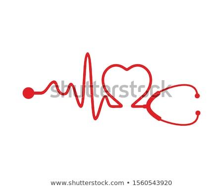 Electrocardiogram and stethoscope Stock photo © pedrosala
