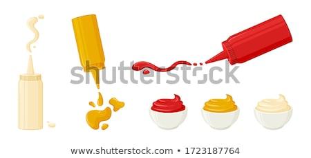 Maionese molho molho tigela salpico vetor Foto stock © pikepicture