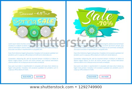 Spring Sale 45 Percent Off, Total Discount Till 70 Stock photo © robuart