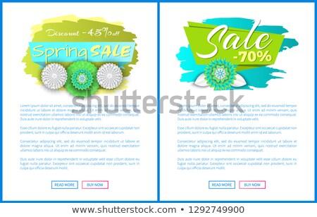 voorjaar · verkoop · af · ingesteld · advertentie - stockfoto © robuart