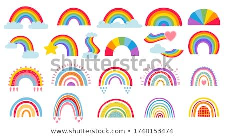 虹色 雲 星 春 抽象的な 雨 ストックフォト © SArts