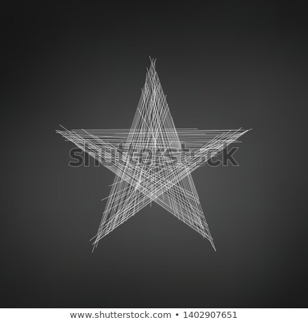line star icon or logo in hand drawn line style high quality sign and symbol on a white background stock photo © kyryloff