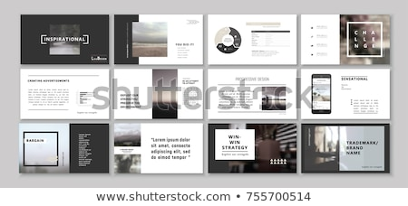 Plantilla catálogo carpeta revista libro suave Foto stock © netkov1