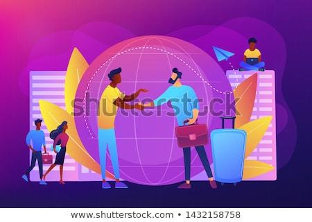 Expat work concept vector illustration Stock photo © RAStudio