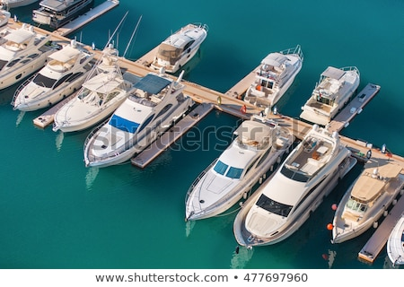Stock photo: Yachting club and marina aerial view
