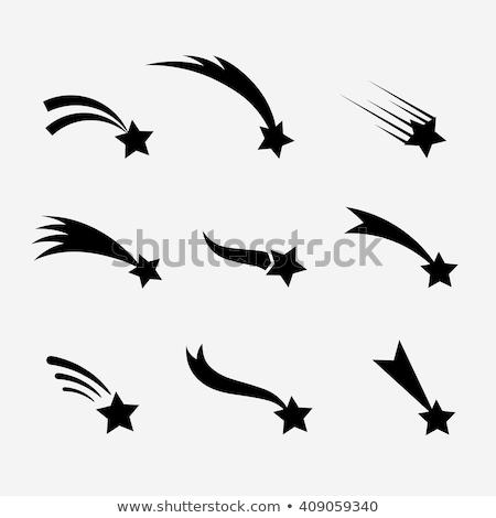 Flying Shooting star icon. vector illustration isolated on black background, Stock photo © kyryloff