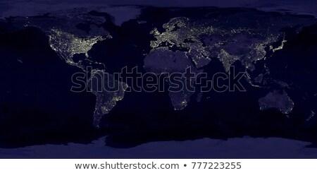 City Lights Мир карта Индия Элементы изображение город Сток-фото © NASA_images