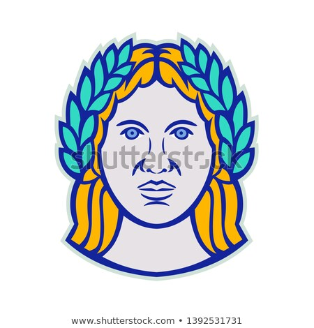Stock photo: Ceres Roman Agricultural Deity Mascot