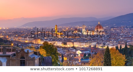 Florence avond Italië heuvel stad Stockfoto © borisb17