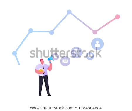 People working at productivity graph Stock photo © jossdiim
