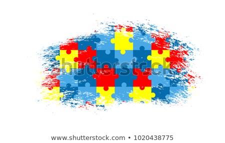 Autizmus grafikus diagnózis autista zűrzavar csoport Stock fotó © Lightsource