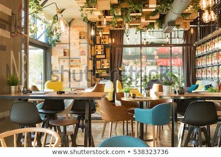 Restaurant Interior Design, Table Dinner Setting Stock photo © robuart