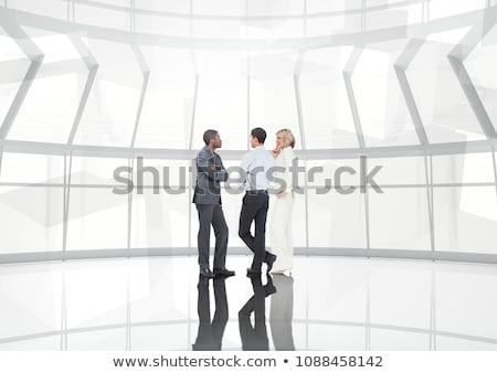 csoport · üzletemberek · átalakulás · digitális · kompozit · számítógép · égbolt - stock fotó © wavebreak_media