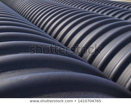 black corrugated pipes detail Stock photo © prill