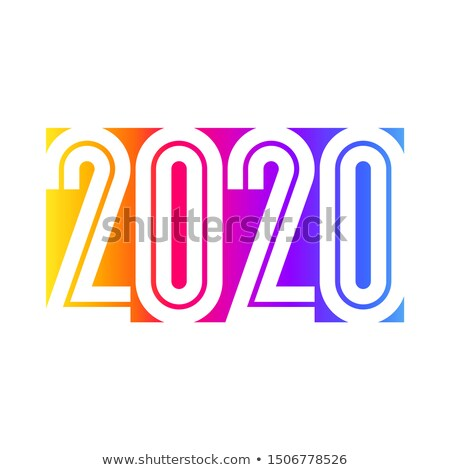 2020 New Year design with condensed numbers on rainbow gradient Stock photo © ussr