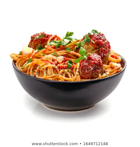 bowl of meatballs stock photo © alex9500
