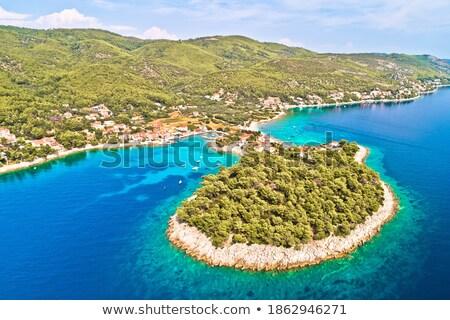 Widok z lotu ptaka wyspa archipelag plaży budynku morza Zdjęcia stock © xbrchx