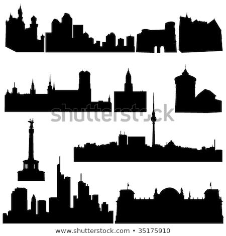 Nieuwe stad hal Frankfurt Duitsland gebouw Stockfoto © borisb17