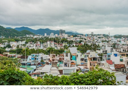 View of the city Nha Trang Vietnam from a height. Asia Travel concept Stock photo © galitskaya