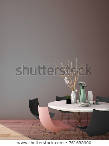 3d model of dining table Stock photo © magraphics