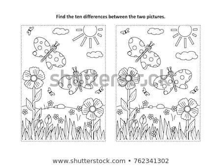 Ort Unterschied aussehen Spiel Kinder Erwachsene Stock foto © Olena