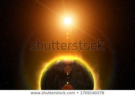 Globalne ocieplenie ziemi charakter projektu sztuki nauki Zdjęcia stock © bluering