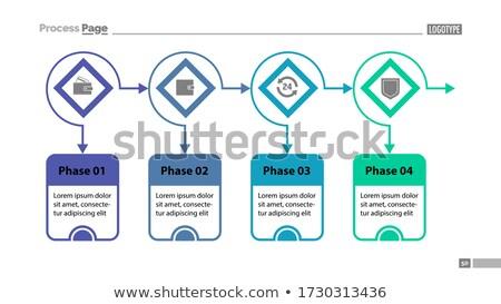 Hirdetés illusztráció szöveg kockák téma promo Stock fotó © ConceptCafe