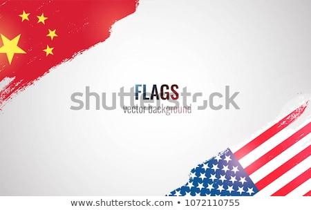 Amerikaanse economie USA vlag business zakelijke grafiek Stockfoto © m_pavlov