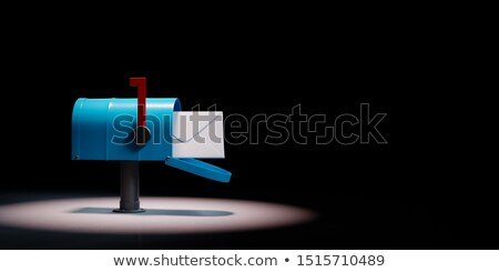 Mailbox Spotlighted on Black Background Stock photo © make