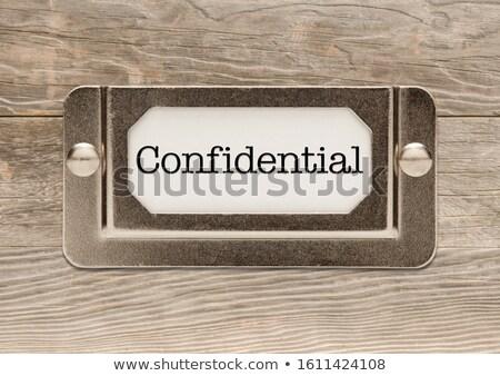 Confidenziale metal file etichetta frame Foto d'archivio © feverpitch