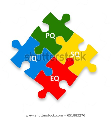 EQ And IQ Jigsaw Puzzle Concept Stock photo © ivelin