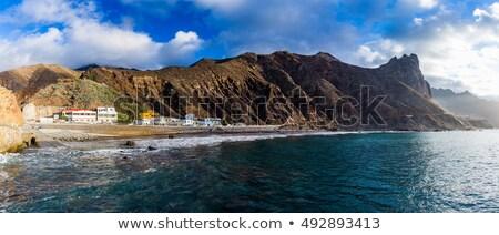 Winding mountain road in Anaga Mountains Taganana Tenerife, Canary island Stock photo © ruslanshramko