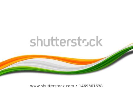Indian republiek dag kleur vlag golf Stockfoto © SArts