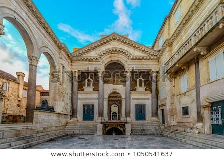 Palácio Croácia antigo romano imperador transformar Foto stock © borisb17