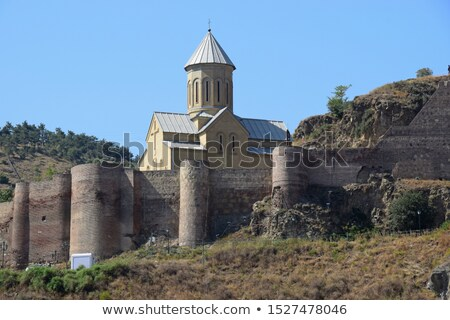 Georgië oude stad reizen wolk Stockfoto © borisb17